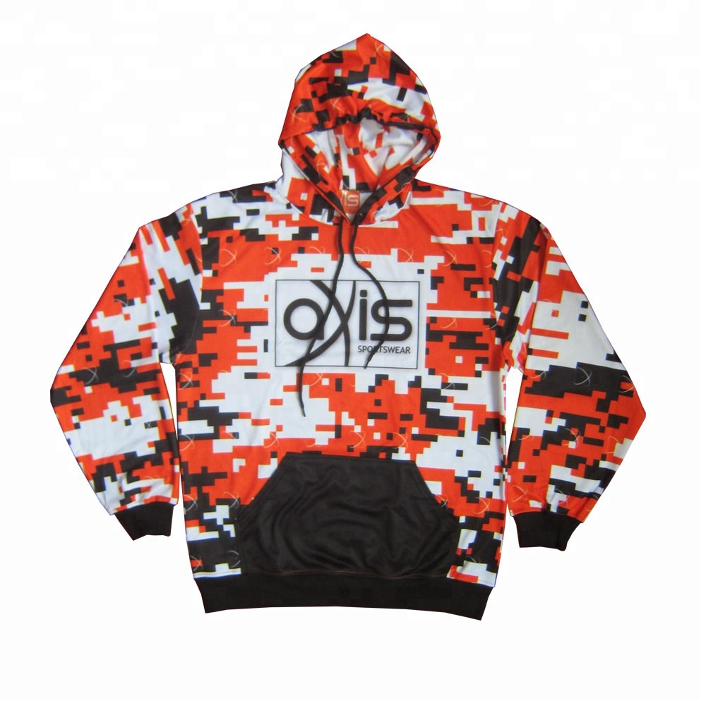 Custom Regular Sleeves  Digital Camo Fashion Fishing Hoodies