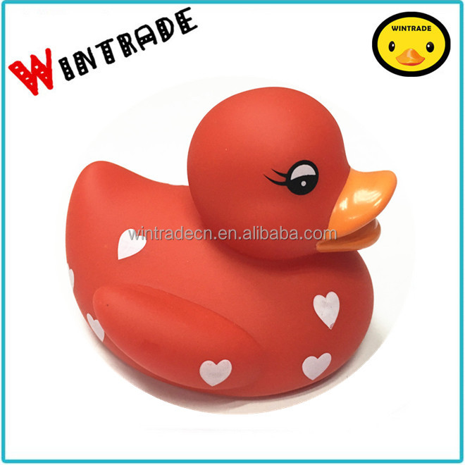 red shower baby duck red heart duck Val red plastic duck