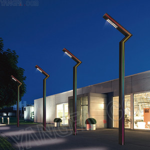 classic outdoor led chip pole light modern street light