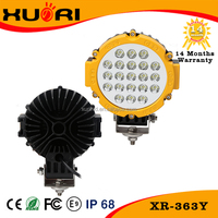 High Brightness on the market 7 Inch LED 63W LED Work Light,12/24V Driving On Truck,Jeep, Atv,4WD,Boat,Mining LED driving light