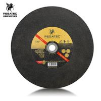 "PEGATEC 14"" 70m/s thickness 3.0mm abrasive tool grinding champion cutting wheel for metal"