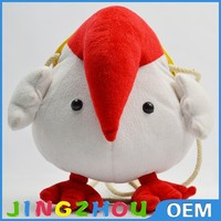"8"" 20cm Children loved Plush coin purse,cartoon animal stuffed coin purse ,cute chicken stuffed plush purse"