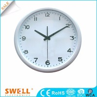analog round on-time wall clock , classic hanging home wall clock digital display