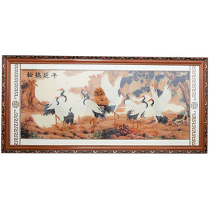 Famous traditional Chinese painting cross stitch with wood frame