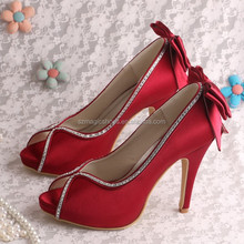 (20 Colors)Wine Red High Heel Fashionable Party Shoes