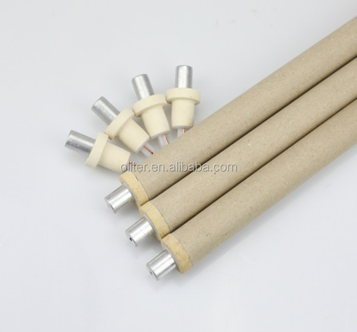 standard tungsten rhenium 604 triangle disposable once used thermocouple for liquid steel