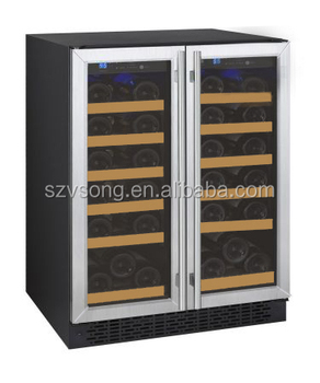 two glass door wine fridge/wine bottle cooler