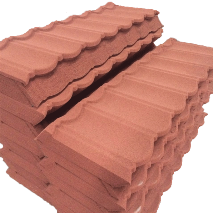 Diversified Colors 6mm thick galvanized steel sheet metal, colorful stone coated metal roof tile