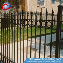 Cheap steel galvanized used wrought iron yard fencing for sale
