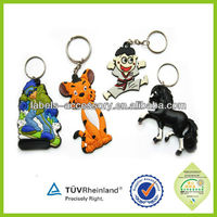 2d/3d soft pvc rubber material singapore keychain for promotional gift