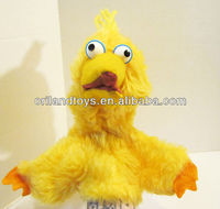 BIG BIRD HAND PUPPET STUFFED PLUSH TOY BY CHILD