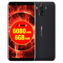 Ulefone Power 3 6GB+64GB Dual Back Front Cameras 6080mah Face & Fingerprint Identification 6.0 inch Android 8.1 Mobile Phone