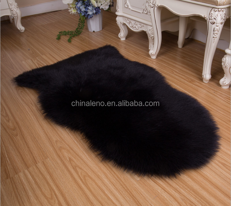 Luxury faux fur rug faux fur machine washable carpet in Living Room for home celebrity decoration rug and carpet wool