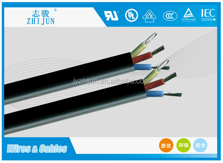 heat resisting multi cores silicone resin rubber coated electric cable