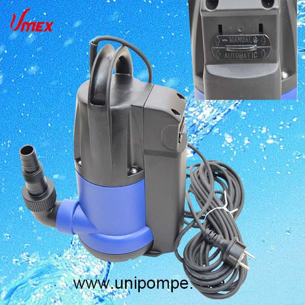 2017 Hot Sale Built-in Float Switch Plastic Submersible Electric Water Pump