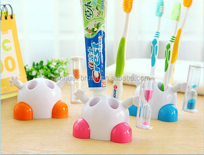 New Sand Timer colorful Bathroom plastic toothbrush cup,toothbrush holder Promotion