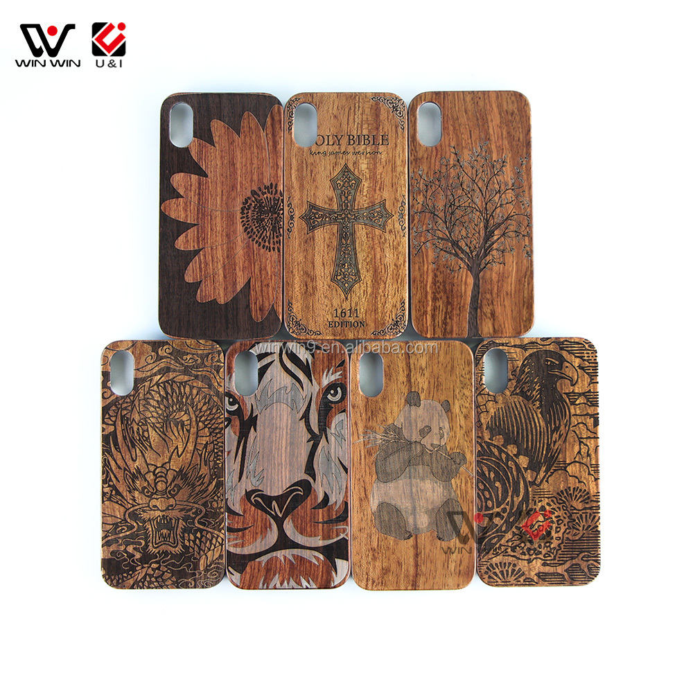 2018 new plain real bamboo wood phone case for iphone X, mobile phone accessories wood case with pc for iphone X