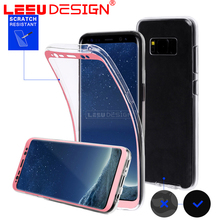 2017 all cover new 360 transparent clear pc tpu phone case for samsun g S8