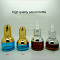 high quality 15ml 30ml blue and amber glass serum bottle, 10ml serum bottle