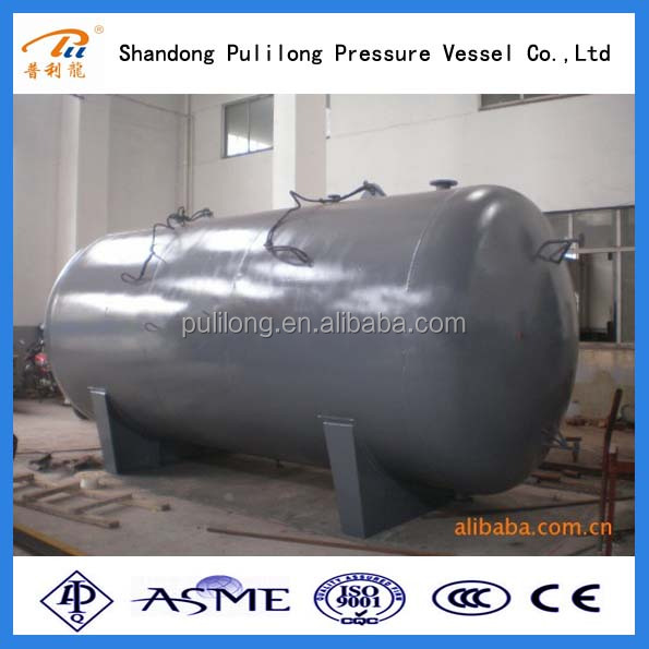 Large Scale of customized used stainless steel 50m3 20ton LPG gas bullet tank for sale