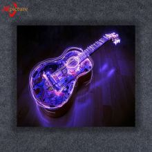 Music Art Wall Painting Modern Home Decors Guitar Pop Art Pictures with LED Canvas