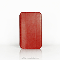 Leather tablet case for ASUS Fonepad 7 (FE170CG)-Red