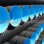 DN500 SN4 hdpe double wall corrugated industrial drainage pipes