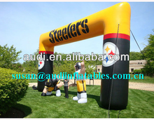 Pittsburgh Steelers Inflatable Arch ,Garden gate blow up Balloon archway