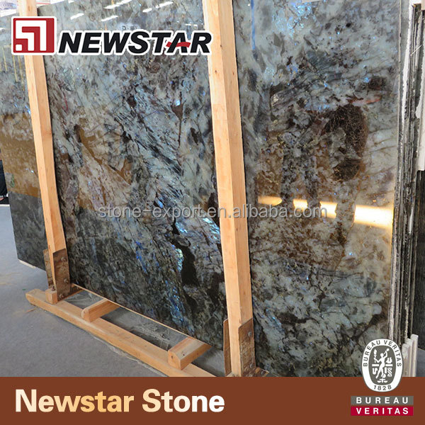 Newstar wholesale blue granite slab labradorite