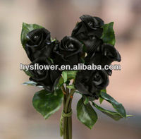Black roses. High quality rose bud bouquets