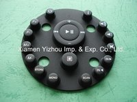 Silicone rubber keypad with conductive carbon piece