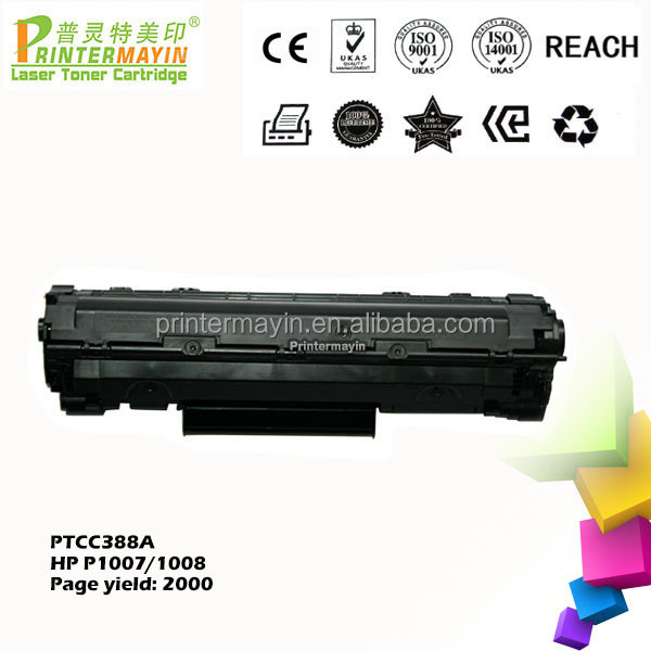 Competitive Price Laserjet P1008 Cartridge Compatible Printer Toner CC388A FOR HP P1007 / P1008 (PTCC388A)