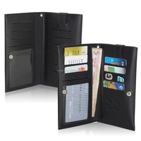 Universal Wallet Leather Case Pouch with touchable screen card slot for Mobile phones