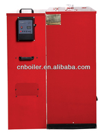 Automatic wood mass hot water boiler