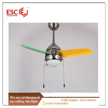 3 plastic blades hanging fan with light mini ceiling fan with light