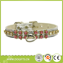 Features Austrian Crystals Dog Collar and Handset Flower Inlays Pet Collar Made in the USA Dog Leashes and Collars Dogift0824