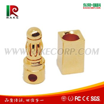 3.5mm Gold Plated Bullet Banana Connector Plug for Rc Motor ESC