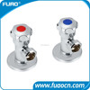 FUAO Toilet Brass Chrome Angle Valve