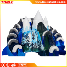 new design Snow Mountain inflatable Slide for adults and kids