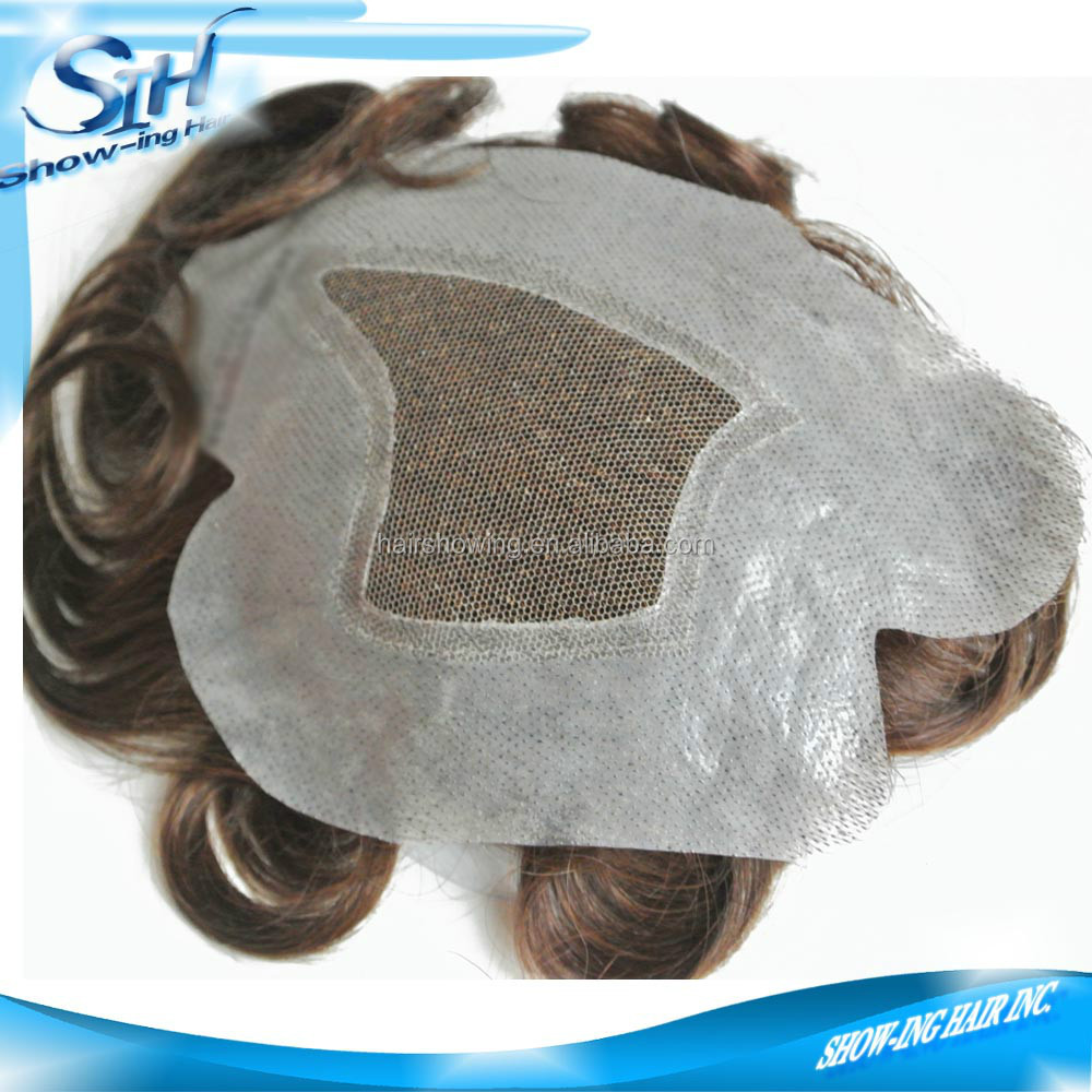Hair patch custom human hair men hair replacemen system