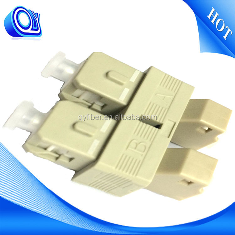 LC Female To SC Male Multimode Duplex Fibra Hybrid Adapter