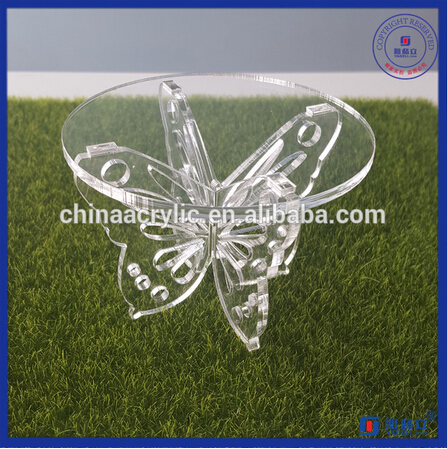 Luxury Small Cupcake Display Stand Clear Acrylic Cake Display Stand with Custom Design Holder