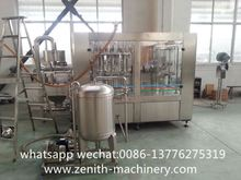 Monoblock Ice Tea Bottling Production Line / Drink Hot Fruit Juice Filling Machine