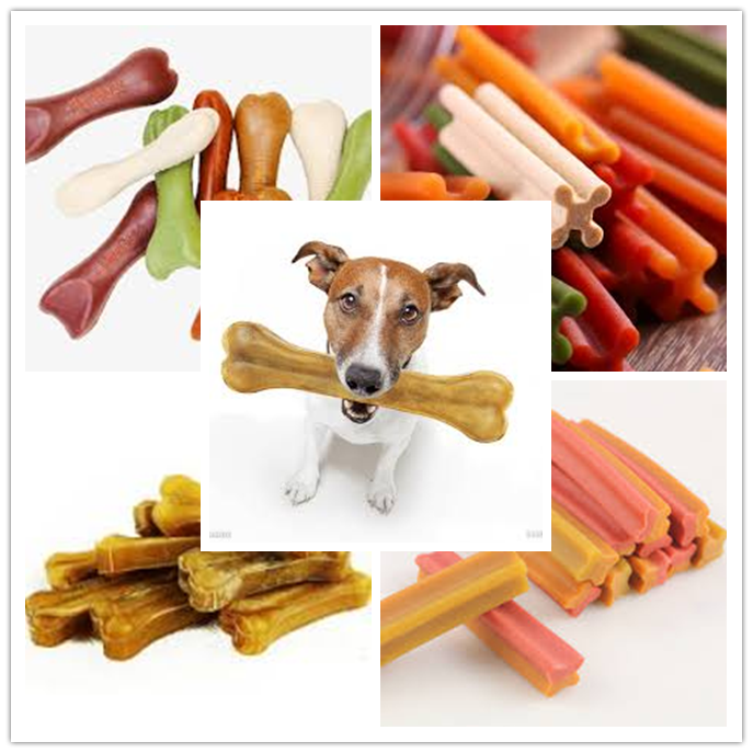 Different Shapes Pet Chews Dog Treats Food Processing Machine