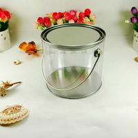 custom clear pvc body candy tin box candy tin can