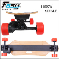 Bamboo and glass fiber deck single motor electric skateboard longboard for sale
