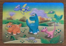 plastic 3D cartoon lenticular Place mats for Christmas