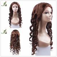 New Premium #4 Color 24 Inch Long Loose Wave Virgin Remy Brazilian Human Hair Full Lace Wig Alibaba Express China