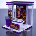 Detian offer comeatic hair trade show booth exhibition stand tension fabric display