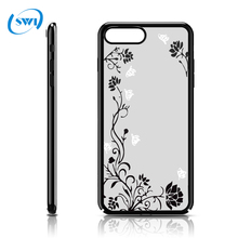 Christmas decoration 2017 plating smartphone case silk printing hard cellphone case for iphone 7 8 cover